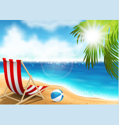 lounge chair on the seaside vector image