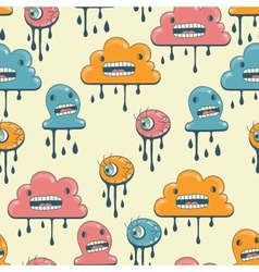 Monsters modern seamless pattern in retro style vector image vector image