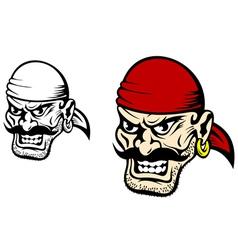 pirate captain cartoon vector image vector image