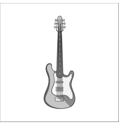 Electric guitar icon black monochrome style vector image vector image