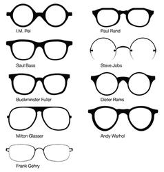Eyeglasses of designers vector