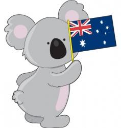 koala Australian flag vector image vector image