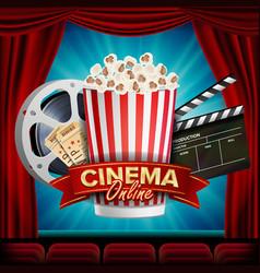 online cinema banner realistic film vector image