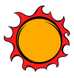 shiny sun icon icon cartoon vector image