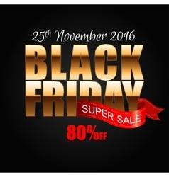 Black Friday 6 vector image vector image