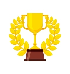 gold trophy icon vector image vector image