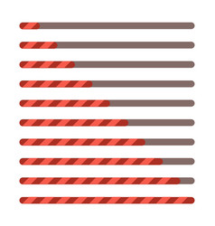 progress bar set loading status bar web vector image vector image