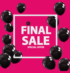 abstract designs final sale banner in black pink vector image