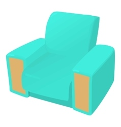 Arm chair icon cartoon style vector image