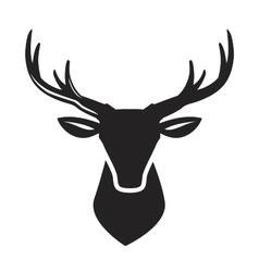 black deer head vector image vector image