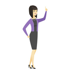 business woman pointing with her forefinger vector image vector image