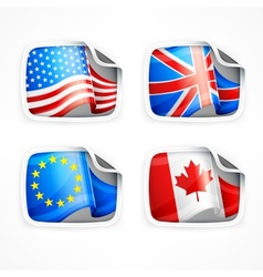 Flag labels vector image vector image