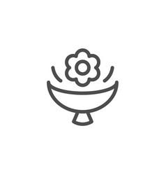 flower bouquet line icon vector image