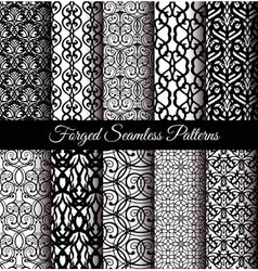 Forged Seamless Patterns Set vector image vector image
