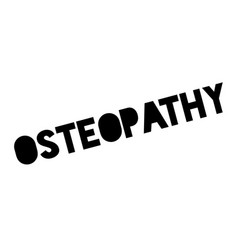 osteopathy rubber stamp vector image