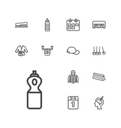13 long icons vector