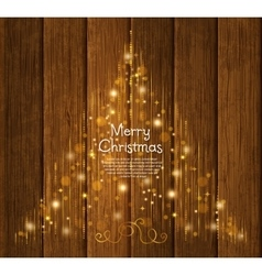 Abstract Christmas tree made from lights vector image