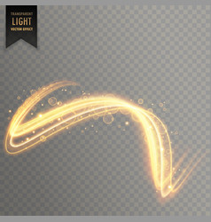 Abstract golden light effect background vector