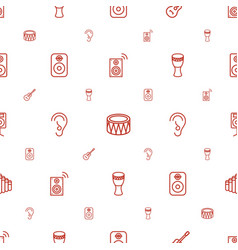Acoustic icons pattern seamless white background vector