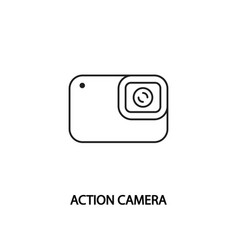 Action camera line icon camera for extreme sports vector