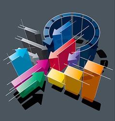 arrows chart vector image
