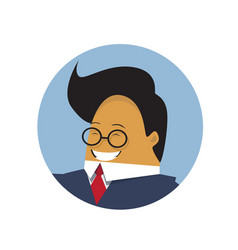 asian business man profile icon isolated chinese vector image