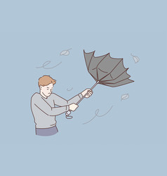 bad weather and storm concept vector image