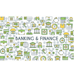 Banking and finance banner vector