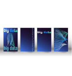 big data visualization network cover set of vector image