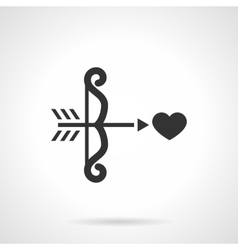Black design cupids bow icon vector image