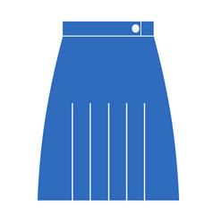 Blue skirt flat vector