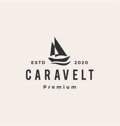 caravel boat hipster vintage logo icon vector image