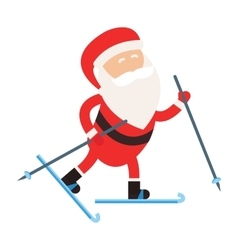 Cartoon Santa winter sport vector image