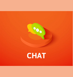 Chat isometric icon isolated on color background vector