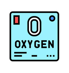 Chemical element oxygen 02 color icon vector