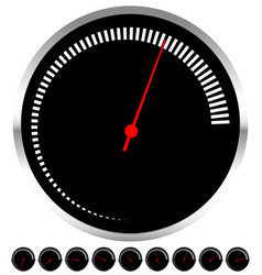 Circular dial gauge template with increments and vector