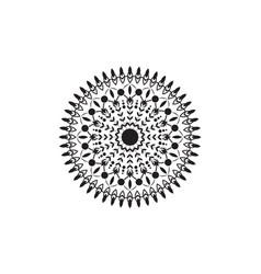 Circular pattern in form a mandala vector