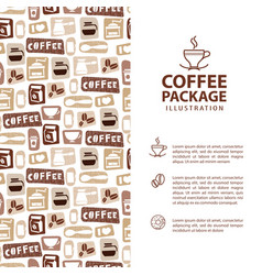 coffee menu or package concept infographics vector image