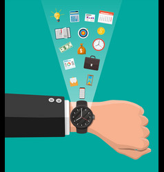 control business planning and time management vector image