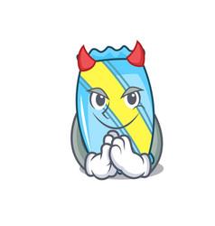 Devil candy mascot cartoon style vector