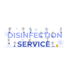Disinfection service concept set cleaning vector