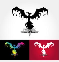 Elegant phoenix logo vector