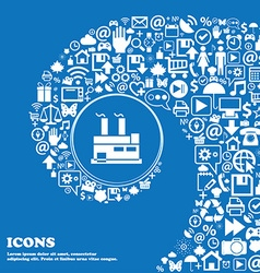 factory icon Nice set of beautiful icons twisted vector image
