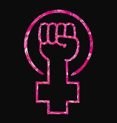 Feminist slogan girl power vector