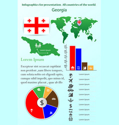 Georgia infographics for presentation all vector