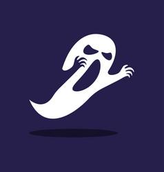 ghost halloween character vector image