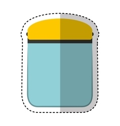 glass mask safety isolated icon vector image