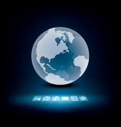 Global communication technology vector