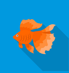 gold fish icon flat singe aquarium fish icon from vector image