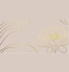 Gold lotus plant vector